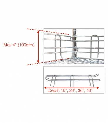 Chrome Wire Shelf Ledge