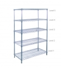 Chrome Wire Rack H-74""