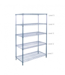 Chrome Wire Rack H-63""
