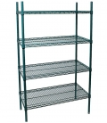 Green Epoxy Wire Rack H-86""