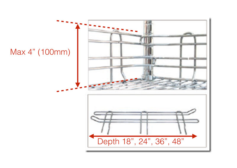 Chrome wire ledge