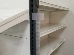 Plastic Display Strips hang easily on existing retail shelving using standard S hook. Can also mount them on walls and flat surfaces.