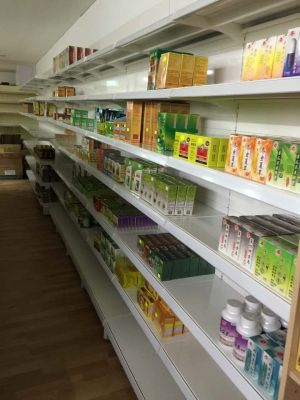 Pharmacy store shelving - Chinese medications