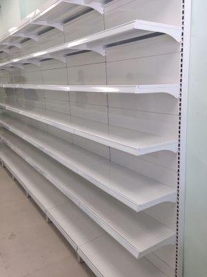 Pharmacy store shelving - Wall gondola