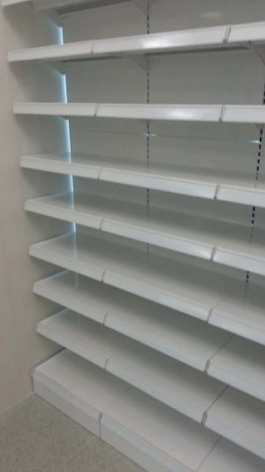 Pharmaceutical store shelving - Wall gondola