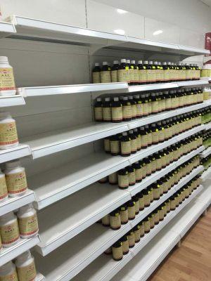 Pharmacy store shelving - bottled medication rack