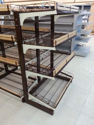 Wire Gondola are elegant in design. Suitable for ligher items such as breads, confectionery, tid bits