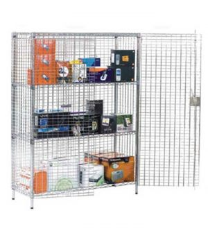 Security wire cage for storage