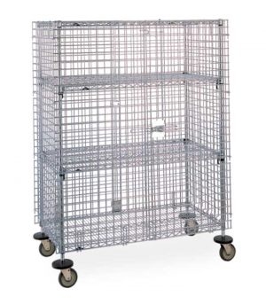 Rollable security wire cage for supermarket, stores, warehouse